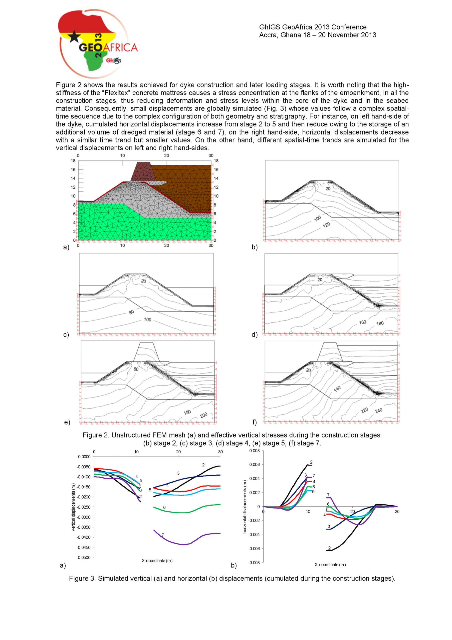 Numerical modelling of a coastal embankment reinforced ...